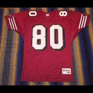 Vintage Wilson Jerry Rice 49ers Football Jersey